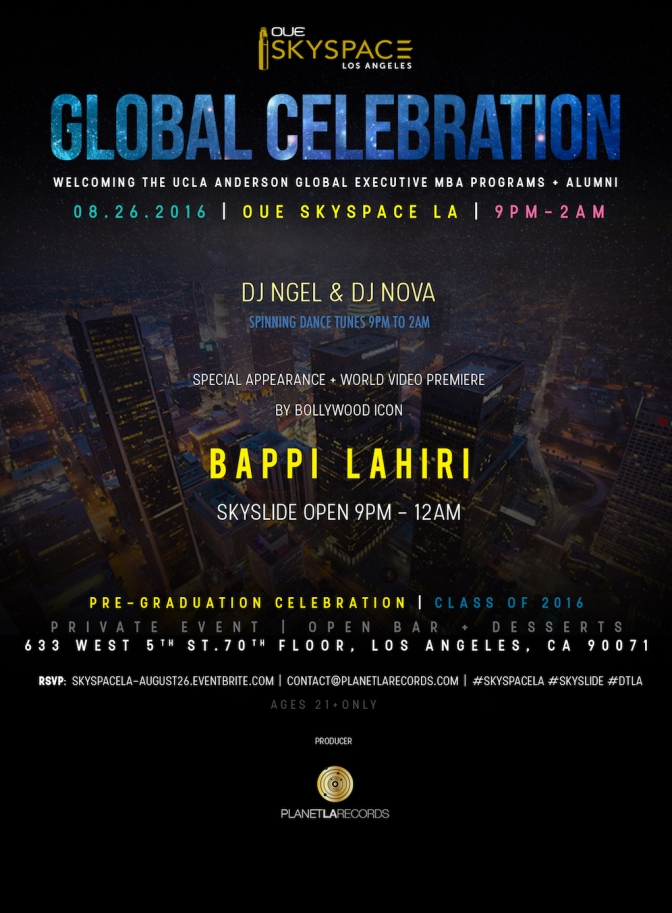 Global Celebration at #SkySpaceLA in Downtown LA