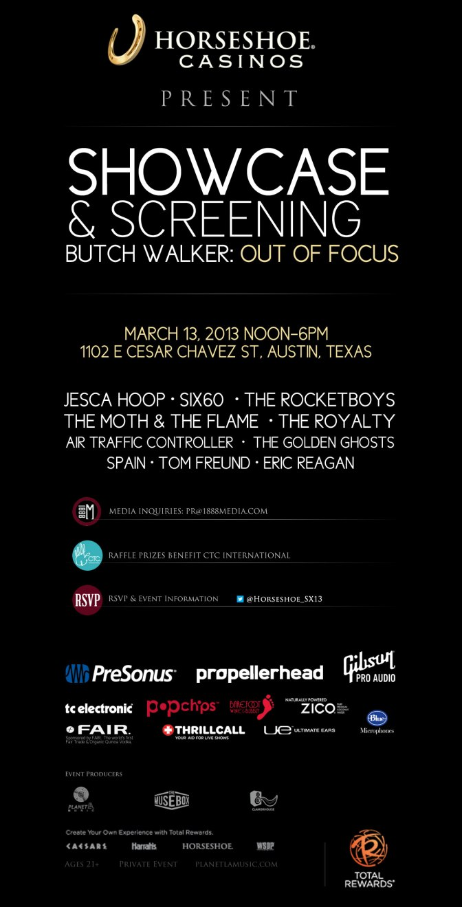 Horseshoe Presents a Showcase & Screening:  March 13, 2013 During SX2013