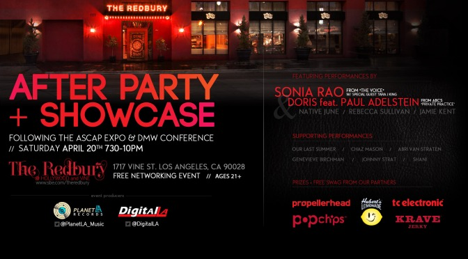 Showcase and After Party at The Redbury Hollywood:  April 20, 2013