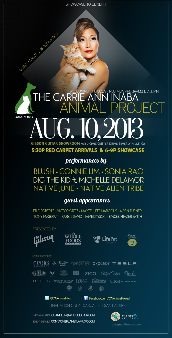 Private Showcase to Benefit the Carrie Ann Inaba Animal Project