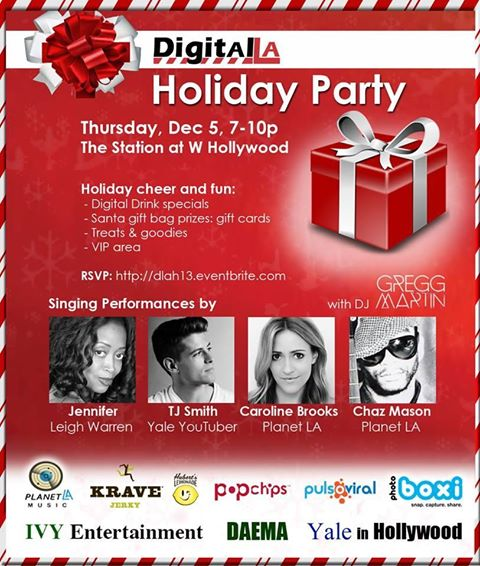 Planet LA Supports Digital LA/IVY Entertainment Holiday Party:  December 5, 2013