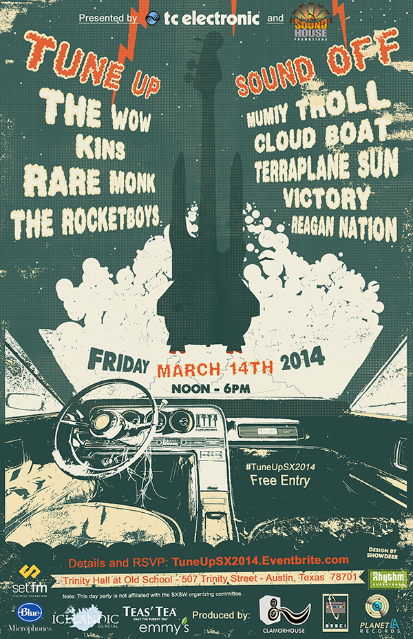 """""""Tune Up & Sound Off"""" Showcase During SX2014:  March 14, 2014"""
