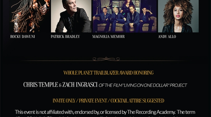 Whole Planet Foundation Pre-GRAMMY Showcase & Benefit:  February 5, 2015