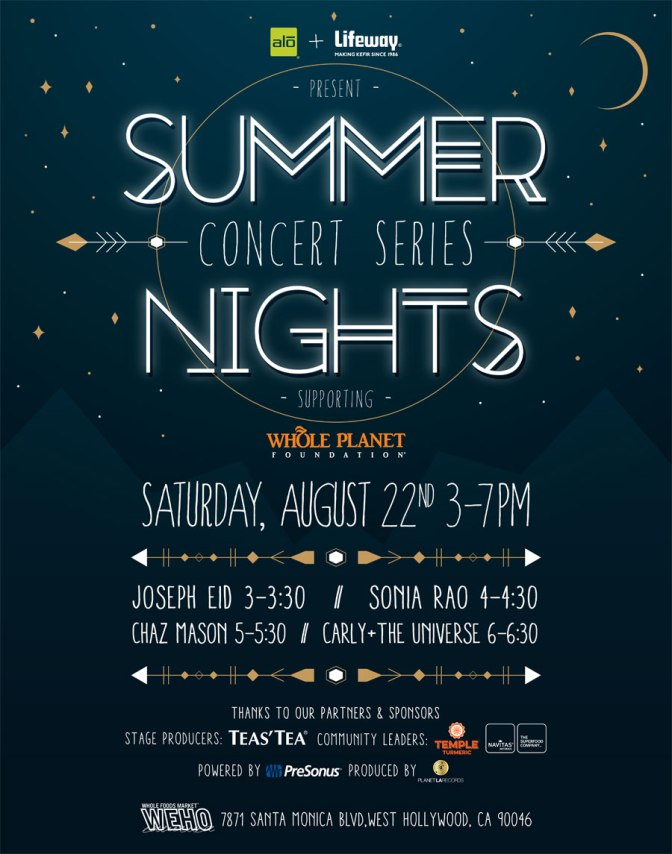 Whole Foods Summer Music Series:  August 22, 2015