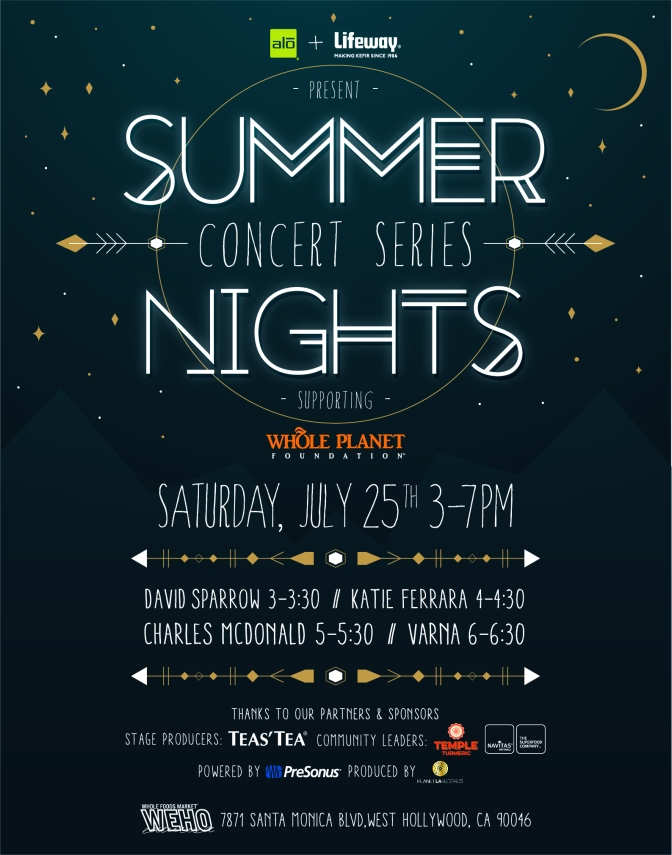 Whole Foods Summer Music Series:  July 25, 2015