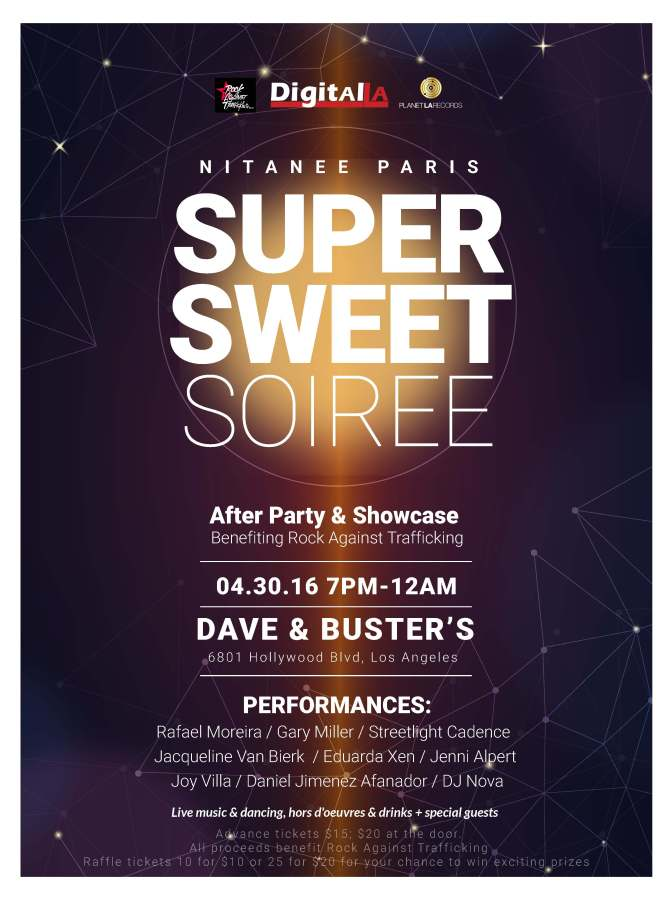Super Sweet Soiree & Benefit for Rock Against Trafficking:  April 30, 2016