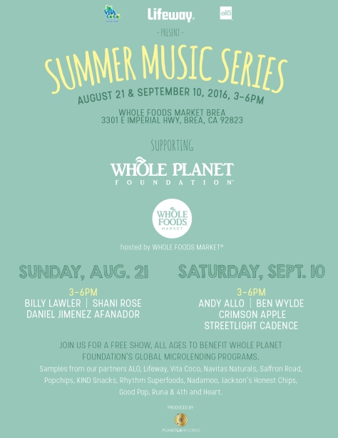 WFM Brea - Summer Music - Flyer