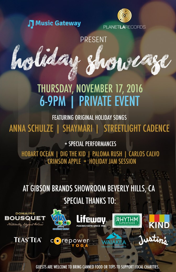 2016 Holiday Showcase with Music Gateway at the Gibson Brands Showroom