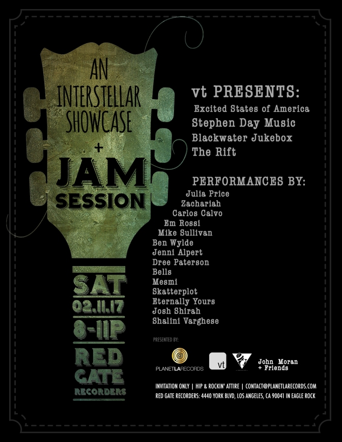 Private Showcase & Jam Session, February 11, 2017