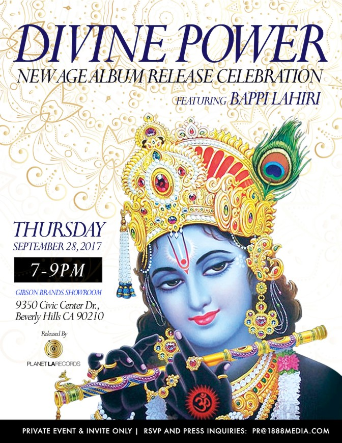 "Bappi Lahiri ""Divine Power"" Album Release, September 2017"
