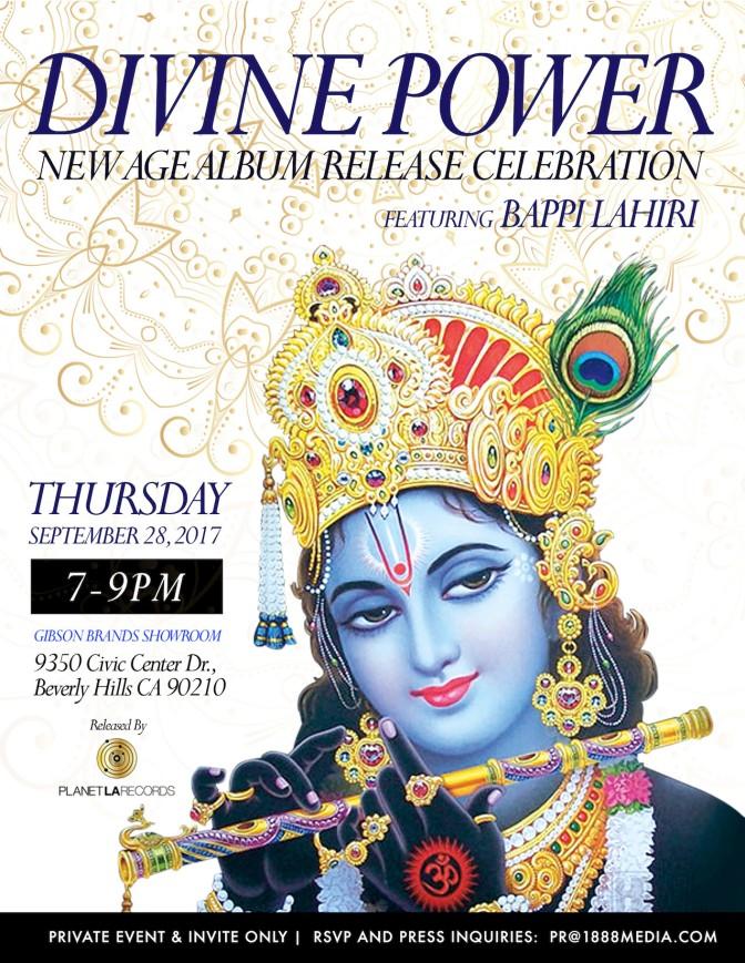 """Bappi Lahiri """"Divine Power"""" Album Release, September 2017"""