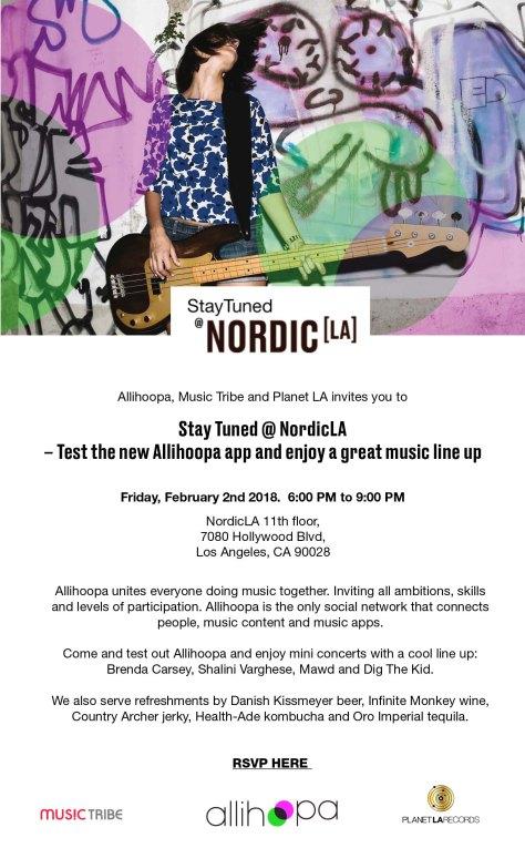 NordicLA #StayTuned showcase - Feb 2 2018