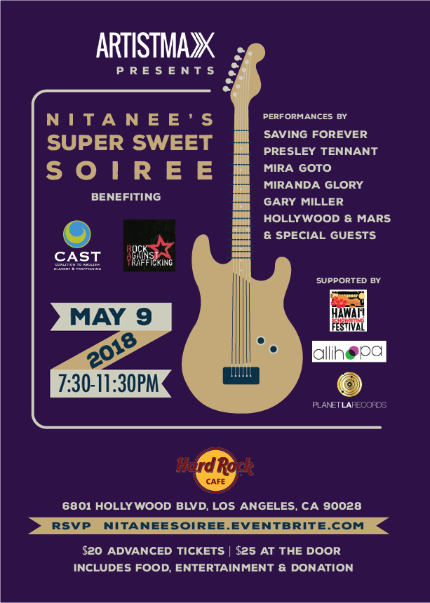 Showcase and Benefit on May 9, 2018 at Hard Rock Cafe Hollywood