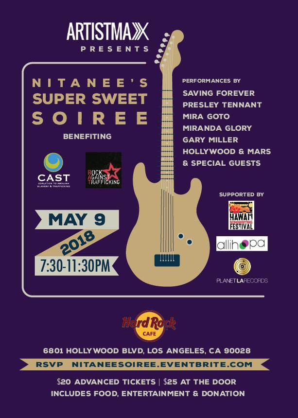 Showcase and Benefit on May 9, 2018 at Hard Rock Cafe Hollywood