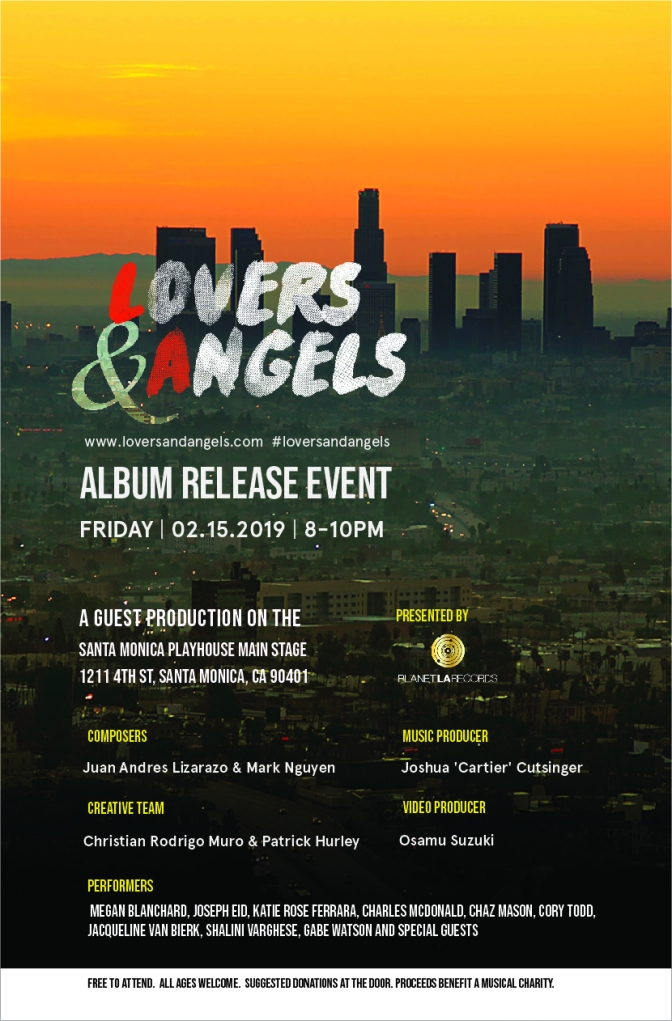 Lovers & Angels Album Release Event:  February 15, 2019