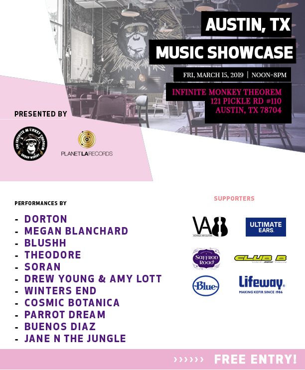 Showcase in Austin, TX:  March 15, 2019